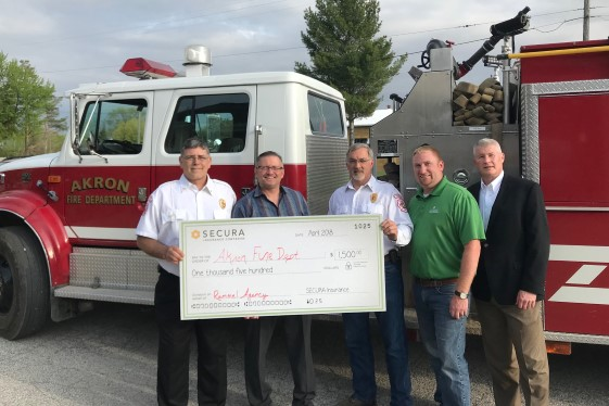 SECURA awards donations to local fire departments